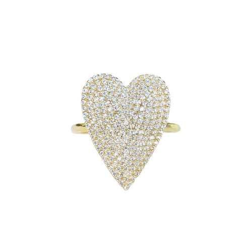 LARGE PAVE DIAMOND HEART-PRE ORDER