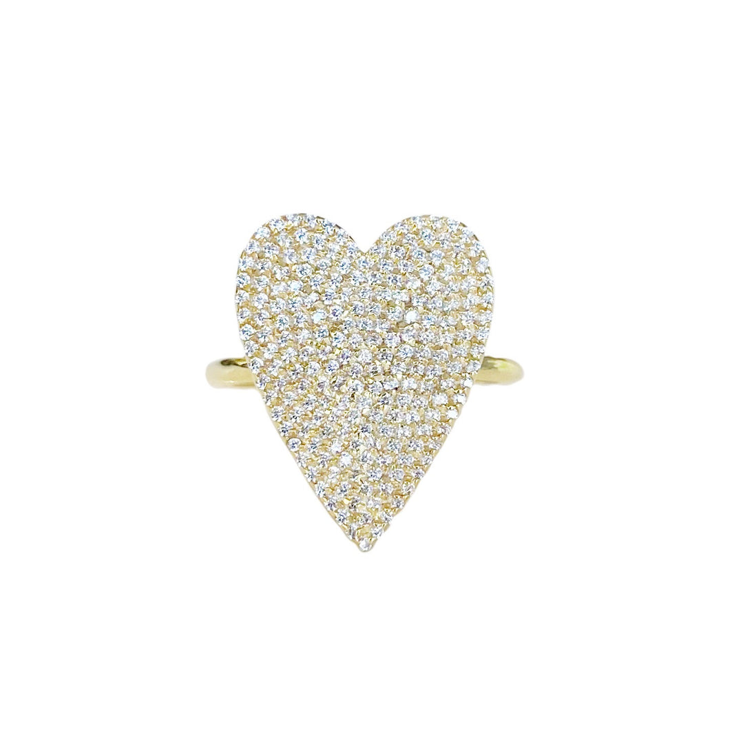 LARGE PAVE DIAMOND HEART