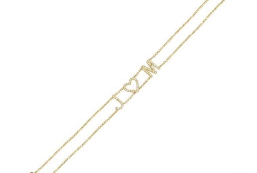 14K DOUBLE CHAIN DIAMOND NAME BRACELET