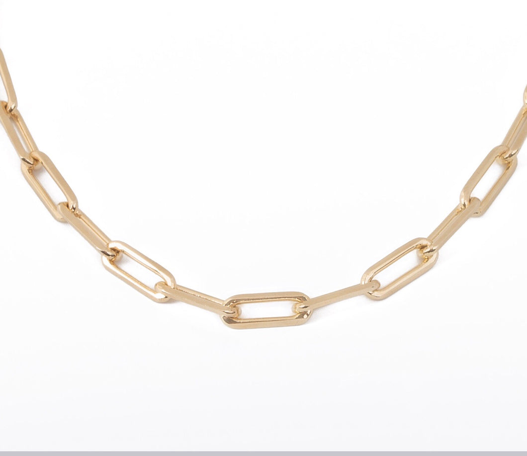 10MM OPEN LINK CHAIN NECKLACE