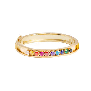 RAINBOW CHARM BANGLE-PRE ORDER
