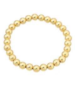 8MM GOLD BEAD BRACELET