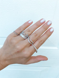 PAVE SCRIPT NAME RING