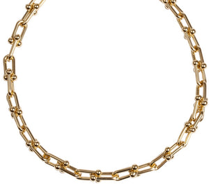 U SHAPE LINK CHAIN NECKLACE