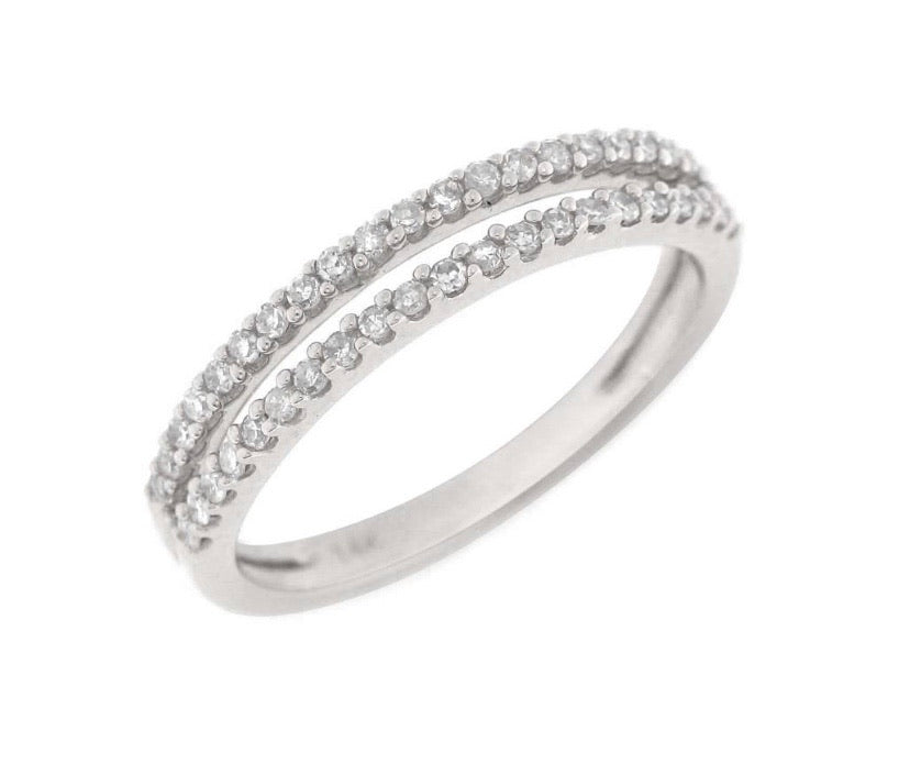 DOUBLE ROW PAVE RING