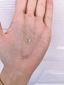 DIAMOND ACCENT INITIAL NECKLACE