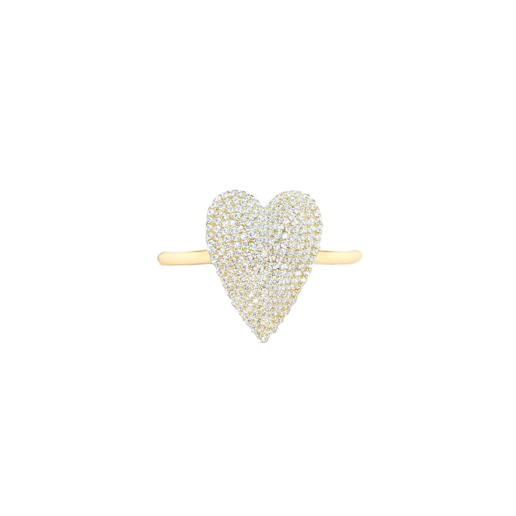 SMALL PAVE DIAMOND HEART