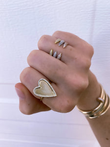 PAVE CLAW RING