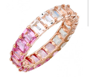 14K PINK AND WHITE BAND