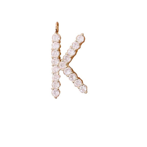LARGE DIAMOND LETTER CHARM