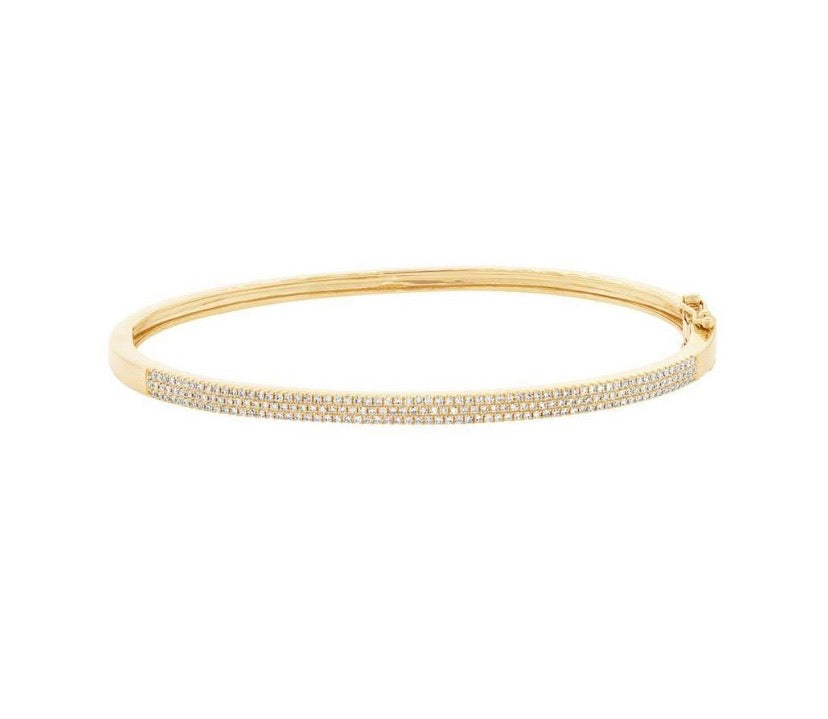 PAVE THREE ROW BANGLE