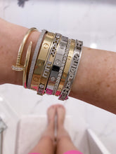 Load image into Gallery viewer, 14K SKINNY CHARM BANGLE ™