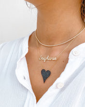 LARGE PAVE BLACK DIAMOND HEART-PRE ORDER
