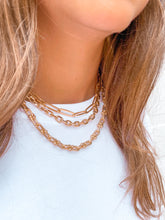 FLAT PAPER CLIP CHAIN NECKLACE