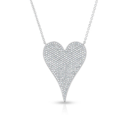LARGE PAVE DIAMOND HEART- PRE ORDER
