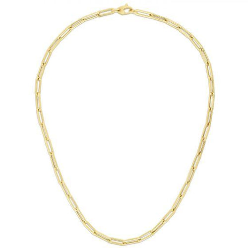 14K LARGE PAPERCLIP NECKLACE