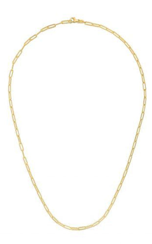 14K SMALL PAPERCLIP NECKLACE