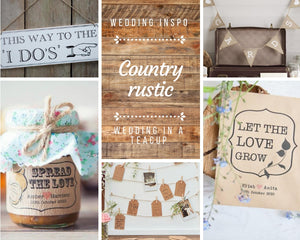 Dream wedding theme: country rustic