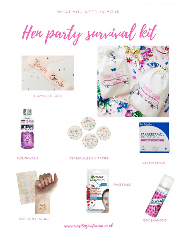 What you need in your hen party survival kit