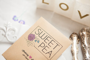 Flower favour focus: sweet peas