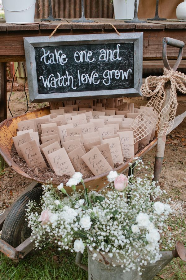 seed packet wedding favour