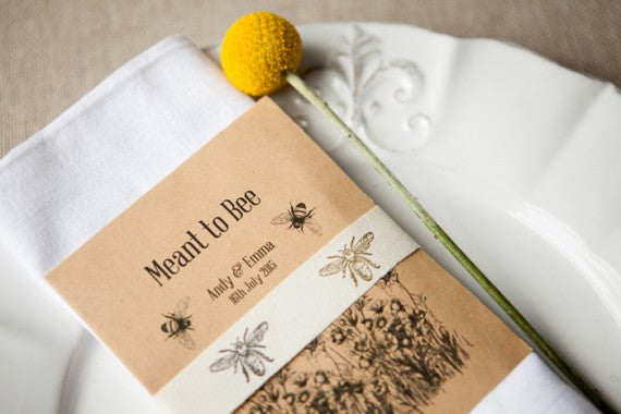 Meant to bee wildflower seed packet favour