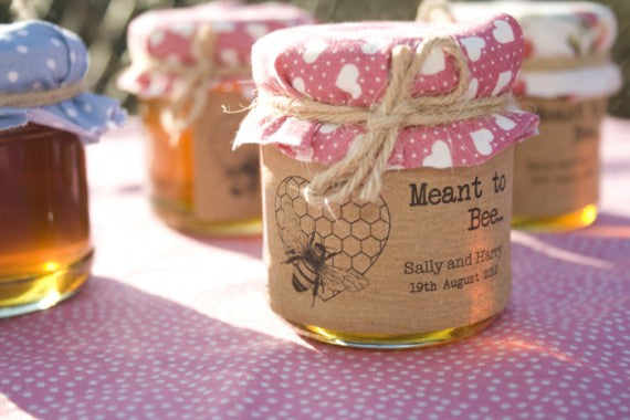 meant to bee honey favour stickers