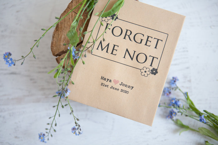Forget Me Not Seed Packet Favours Wedding In A Teacup