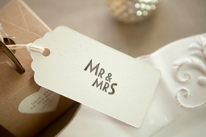 Mr & Mrs' Rubber Stamp