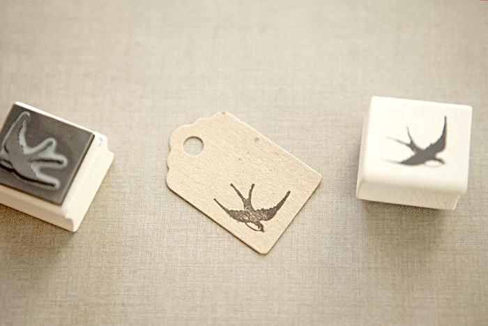 Swooping Swallow Rubber Stamp