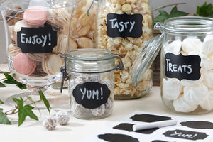 12 Chalkboard Style Labels plus Chalk