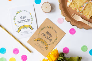 Hello Sunshine Sunflower Birthday Party Favours