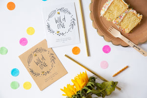 Wildflower Seed Packet Birthday Party Favours