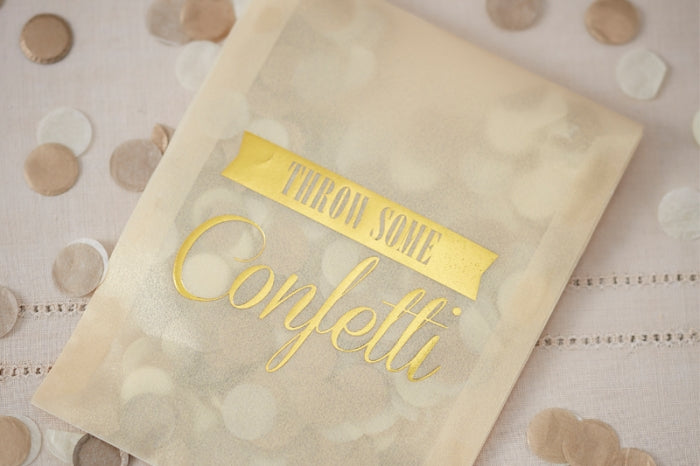 Gold & Ivory ' Throw Some' Confetti