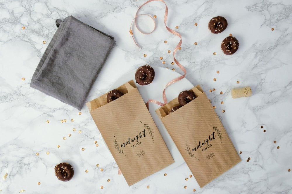 Personalised 'Midnight Snack' Paper Goodie Bags