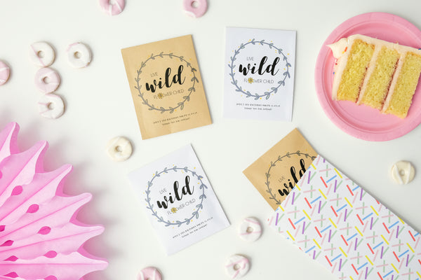 Personalised 'Live Wild' Seed Packet Party Favours