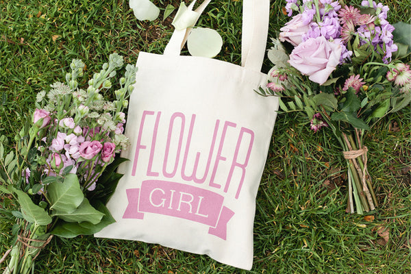 Flower Girl' Mini Canvas Tote Bag