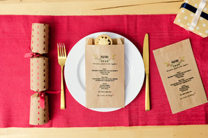 Personalised Christmas Menu Paper Bags
