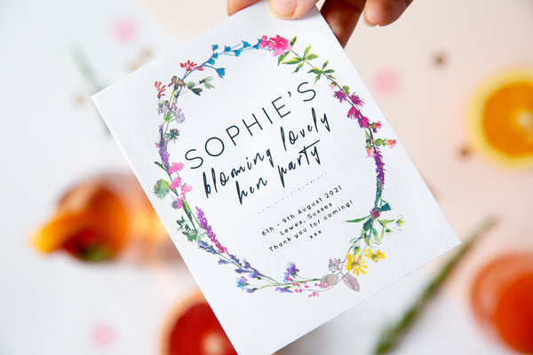 Wildflower Wreathe Hen Party Seed Packets