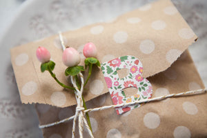 Set of 20 Polka Dot Kraft Goody Bags