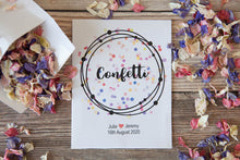 Personalised Colourful Confetti Packet