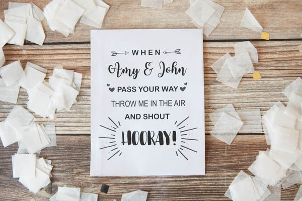 Personalised Confetti Rhyme Packets