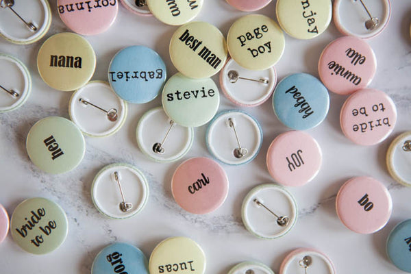 Personalised Sugar Almond Name Badges