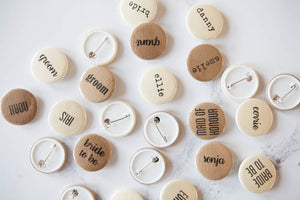 Personalised Coffee & Cream Name Badges