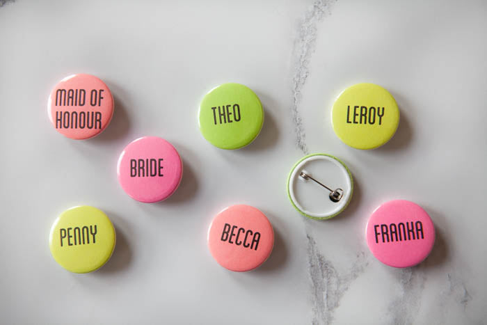 Personalised Neon Name Badges