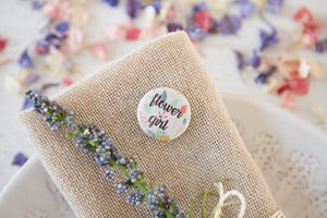 Personalised Floral Name Badges