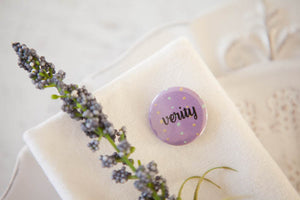 Personalised Dotty Name Badges