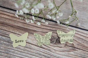 Love' Paper Butterfly Confetti