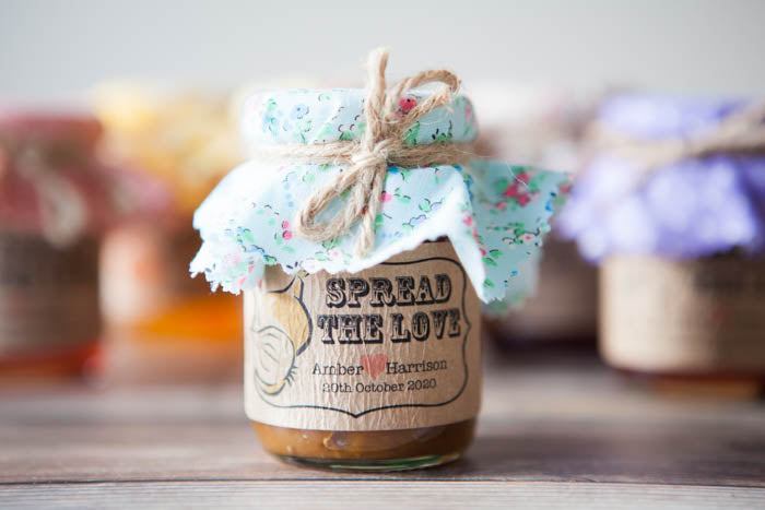18 'Spread the Love' Chutney Favour Stickers