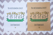Blooming Lovely Personalised Thank You Seed Packets